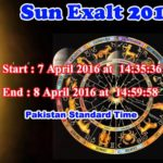 The Exalt Of Sun 7 April 2016